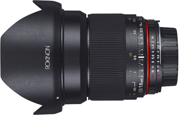 Rokinon 16mm f2.0 Aspherical Wide Angle Lens